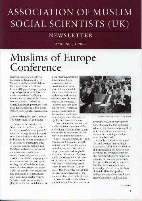 AMSS (UK) Newsletter Issue No. 3 (2000)